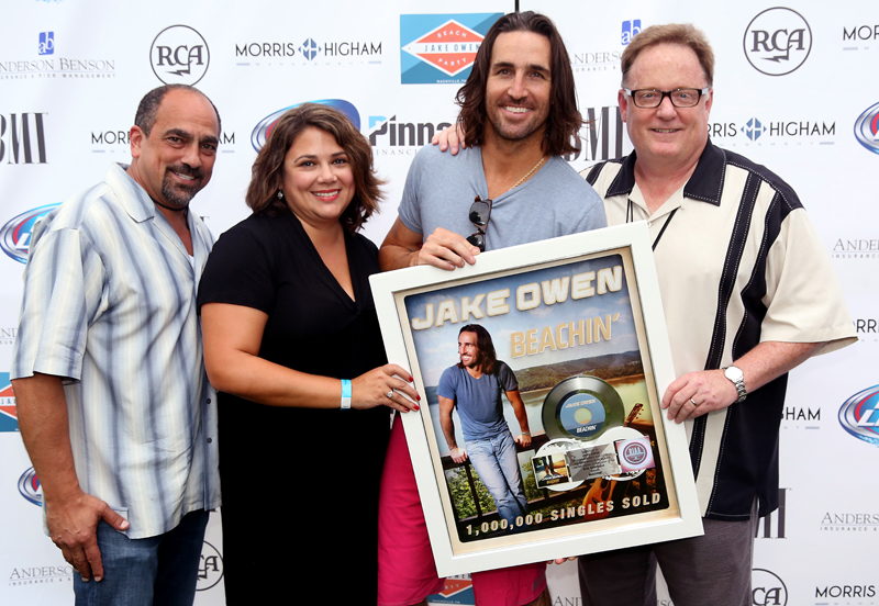 Jake Owen takes over Nashville with beach party, earns platinum certification