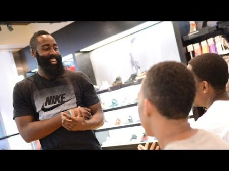 James Harden surprises shoppers at Foot Locker