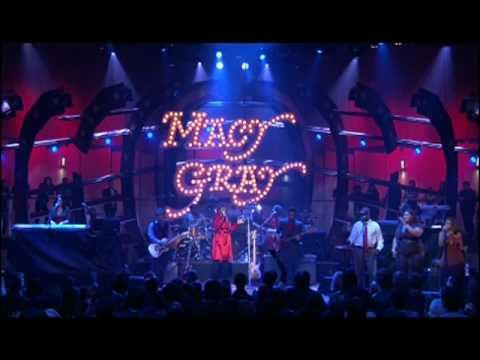 Raspy-voiced songstress Macy Gray croons at SOB's in New York, October 9