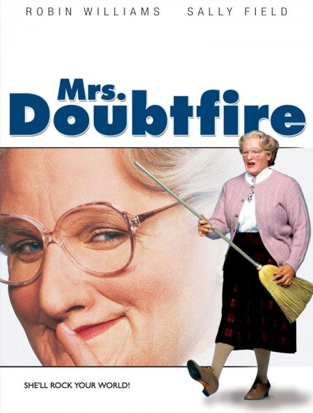 """""""Mrs. Doubtfire"""" is the type of film that should be an absolute trainwreck, but thanks to the genius of Robin Williams it has become a belov"""