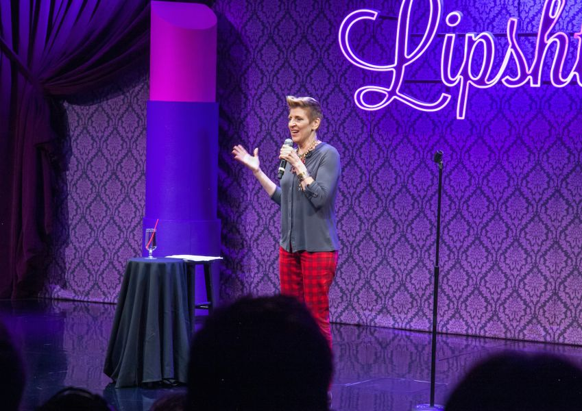Lisa Lampanelli performs in 'Lipshtick' at The Venetian