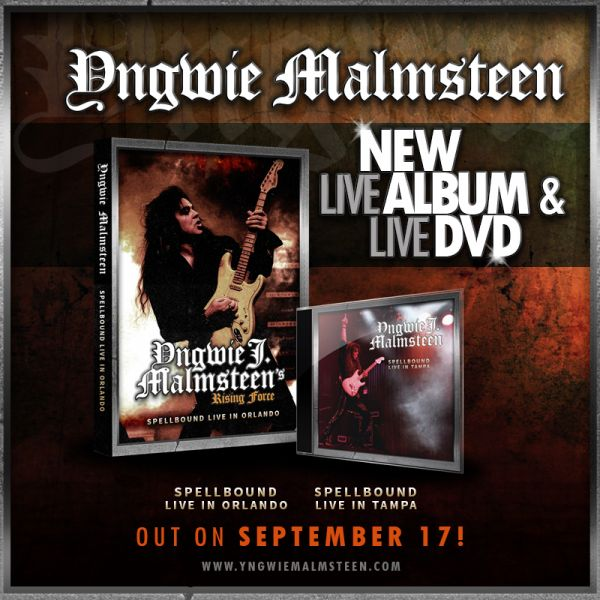 Yngwie Malmsteen to release new live album and live DVD