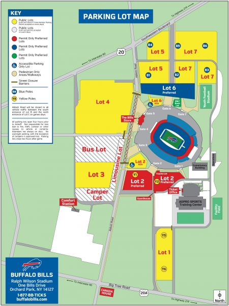 Tailgating Parking Tips At Ralph Wilson Stadium AXS - Lp field parking map