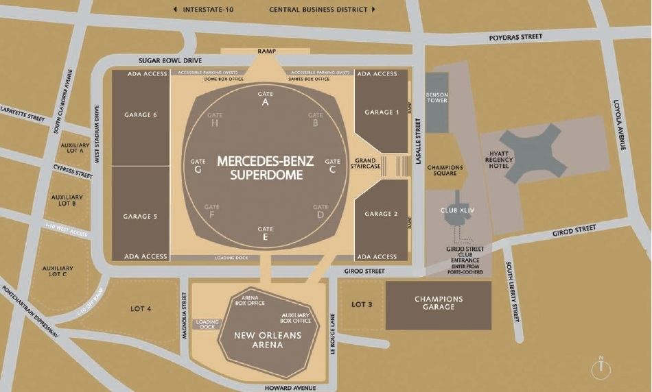 Tailgating Parking Tips At Mercedes Benz Superdome Axs