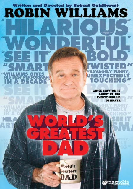 """""""World's Greatest Dad"""" is a hidden gem in the massive catalog of Williams' films. Directed by Bobcat Goldthwait, this 2009 dark comedy exami"""