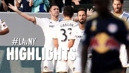 LA Galaxy defeat New York Red Bulls 4-0 and stay on top of the MLS