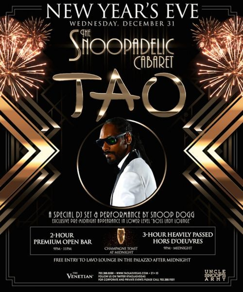 Snoopadelic Cabaret returns to TAO Las Vegas for New Year's Eve