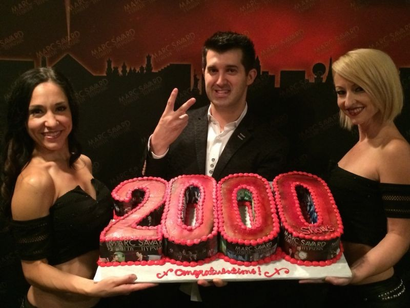 Marc Savard marks 2,000th show at the V Theater in Las Vegas