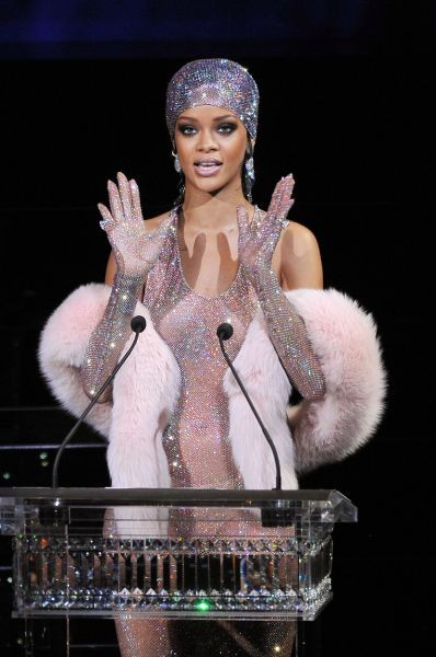 Rihanna is honored at the CFDA Awards 2014