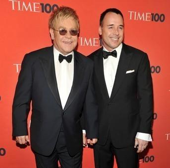 Elton John picks friends not celebrities for baby Zachary's first godparents