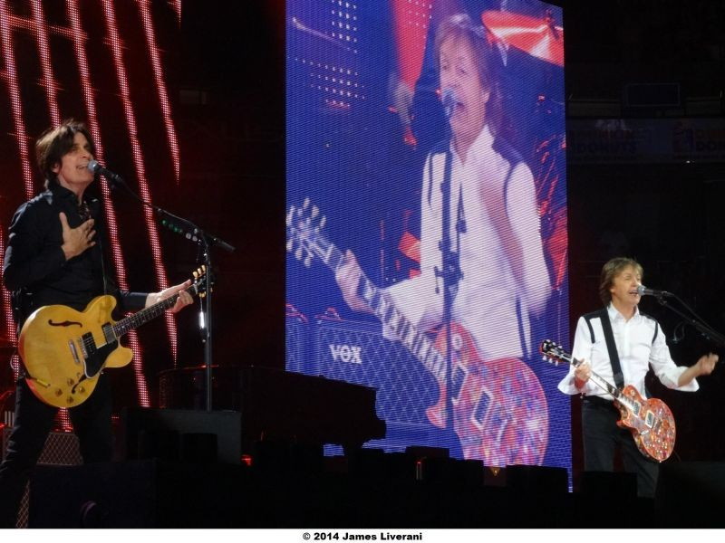 Paul McCartney at the first 2014 U.S. concert on his Out There! tour.
