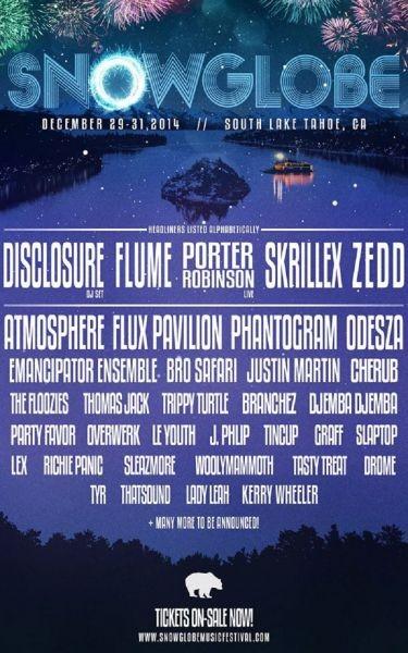 SnowGlobe Festival announces 2014 lineup
