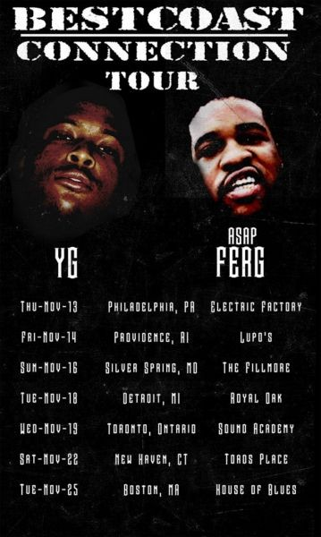 Aap ferg schedule dates events and tickets axs aap ferg yg announce bestcoast connection fall tour m4hsunfo
