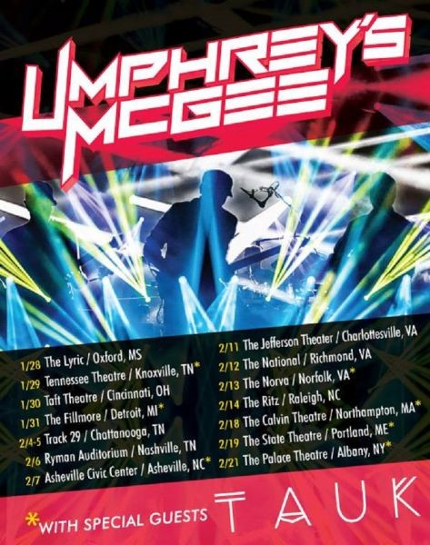 Tauk announces winter tour dates with Umphrey's McGee