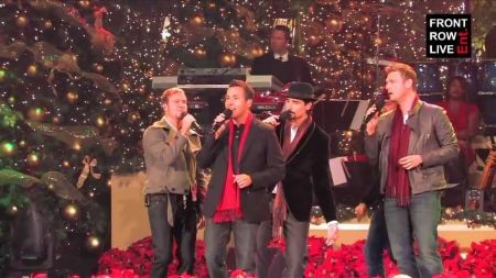 Backstreet Boys perform 'It's Christmas Time Again' at The Grove