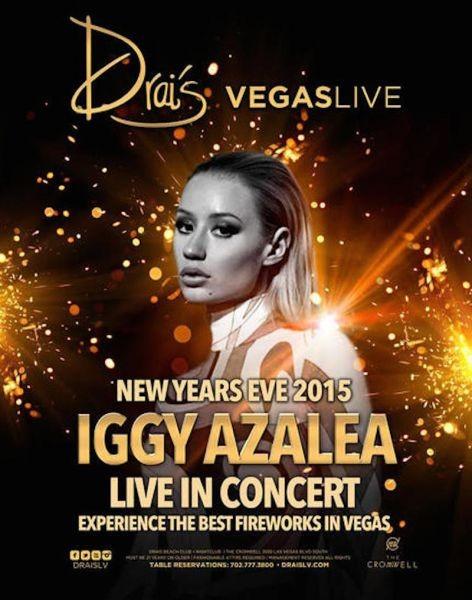 Iggy Azalea to perform on New Year's Eve at Drai's Nightclub