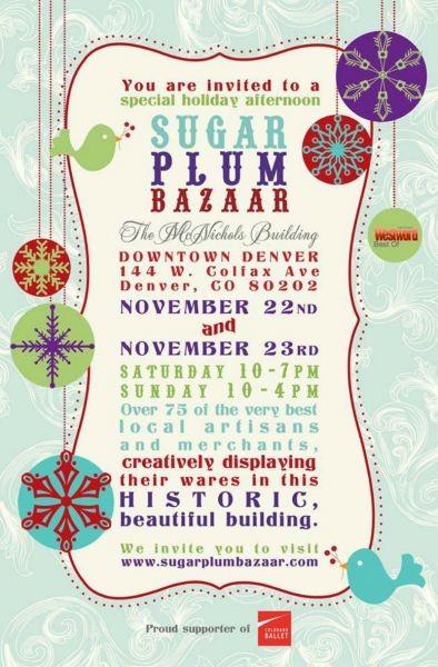 The Sugar Plum Bazaar kicks off your holiday shopping season