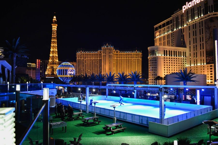 Cosmopolitan Of Las Vegas Brings The Ice Rink Back To Boulevard Pool