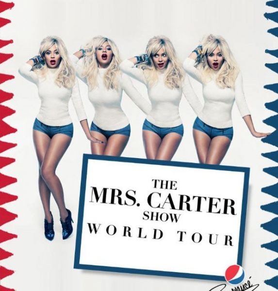 Beyoncé goes blonde for new 'Mrs. Carter World Tour' poster
