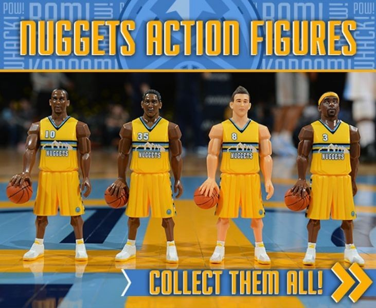 Nuggets to give away action figures at four upcoming home games