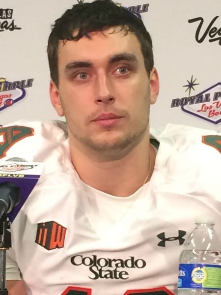 Garrett Grayson, CSU Rams dejected following Las Vegas Bowl loss
