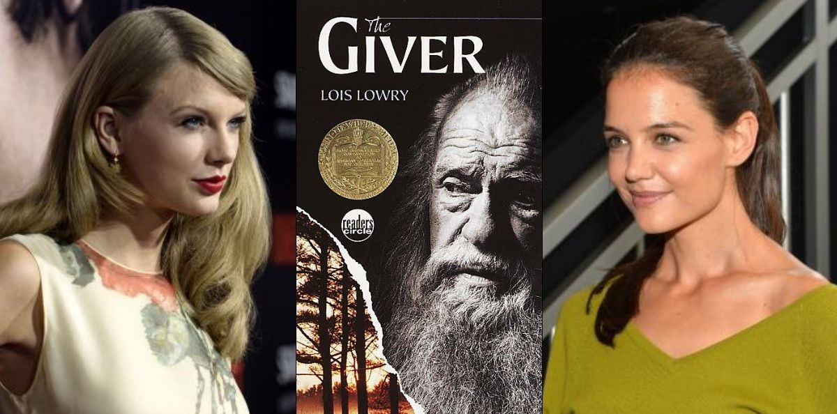 taylor swift katie holmes join the cast of the giver