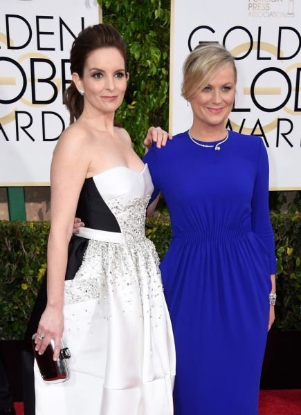 Tina Fey, Amy Poehler dazzle at Golden Globes while skewering Bill Cosby