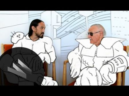 "Steve Aoki & Stan Lee talk for Wired's ""Neon Future Sessions"""
