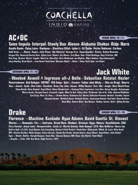 Coachella and BottleRock announce 2015 music festival lineups