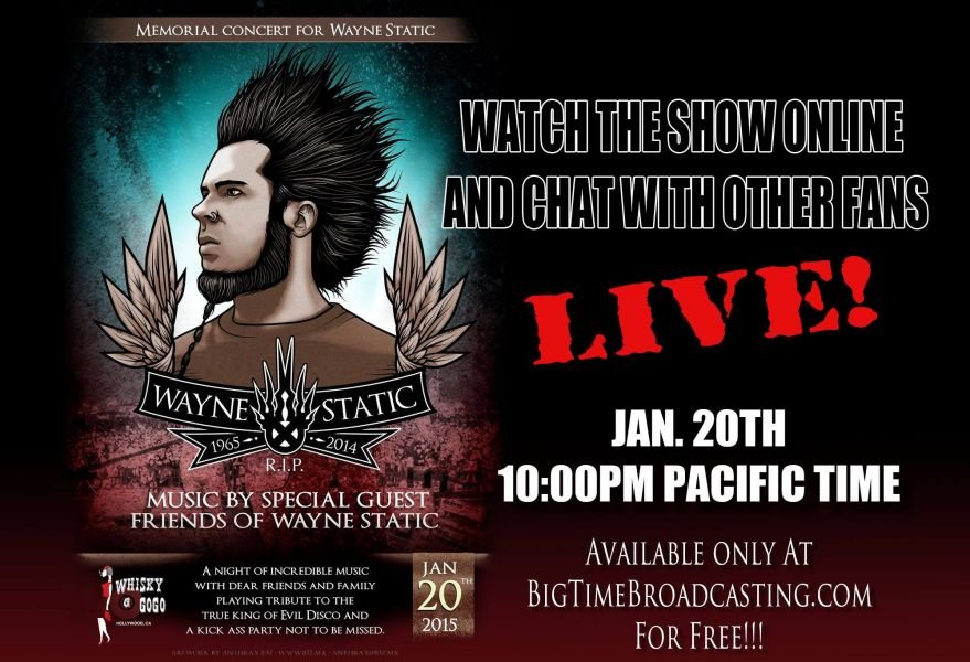 Benefit concert for Wayne Static to be streamed online Tuesday