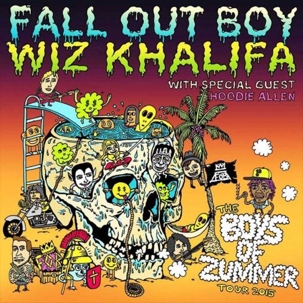 Boys of Zummer Tour with Fall Out Boy & Wiz Khalifa at White River Amphitheatre