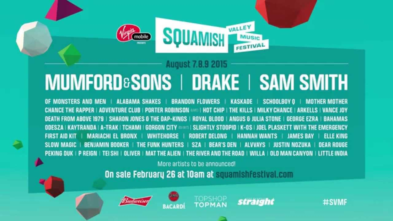 Squamish valley music festival 2015 reveals its lineup axs squamish valley music festival 2015 reveals its lineup malvernweather Image collections