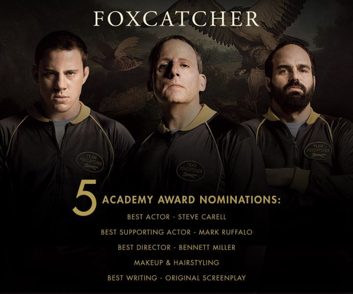 Foxcatcher Pins Down 5 Oscar Nominations Including Best Actor