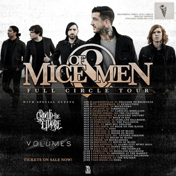Of Mice & Men with Crown the Empire headed to The Showbox