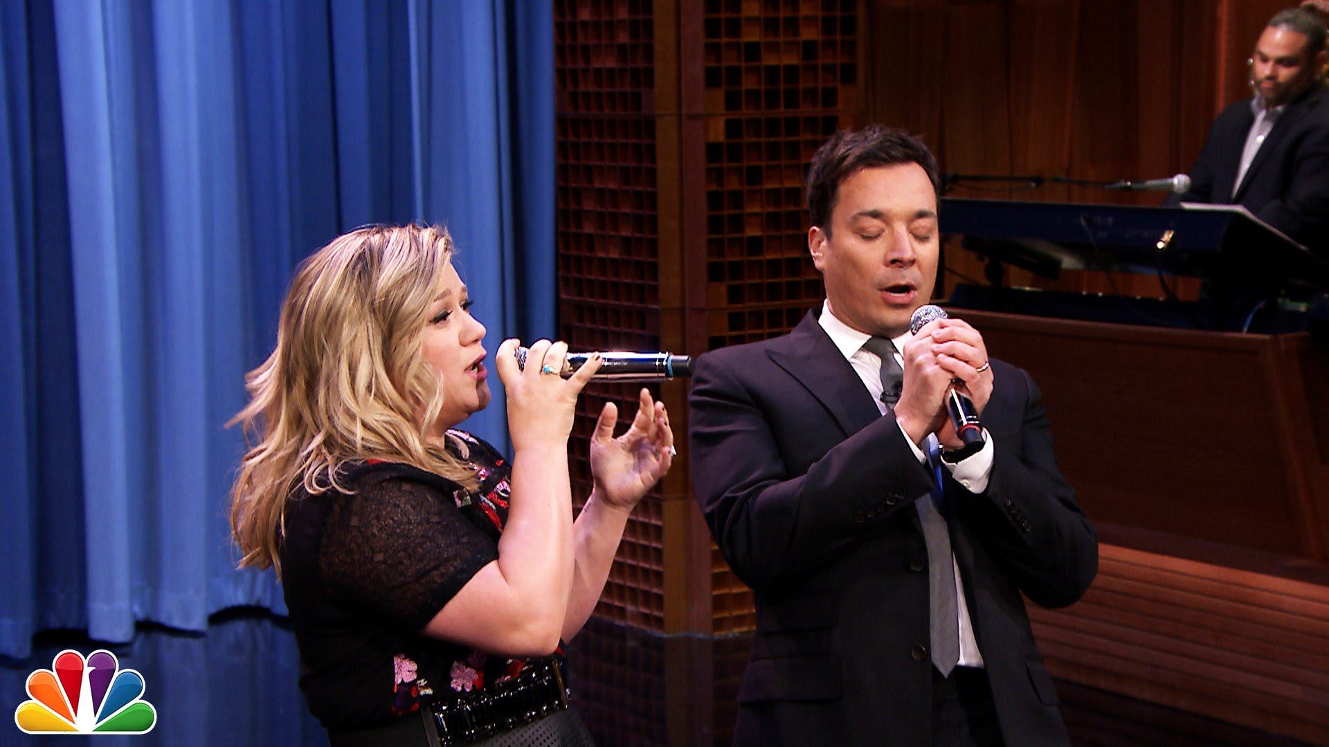 Kelly Clarkson finds a duet partner in Jimmy Fallon