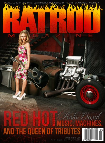Behind the scenes with Katie Daryl for Rat Rod Magazine photo shoot