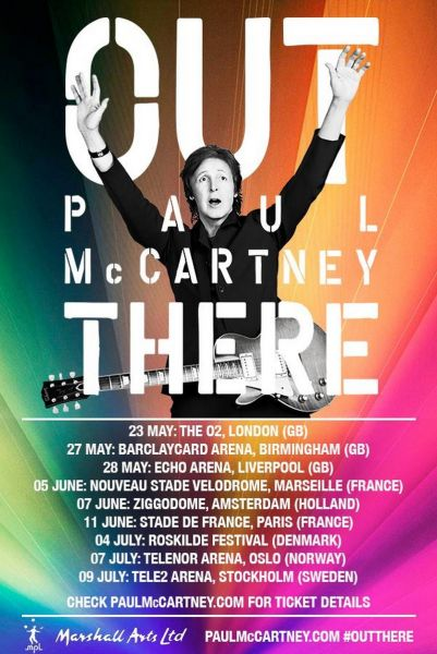Paul McCartney taking his 'Out There' tour to Europe this summer