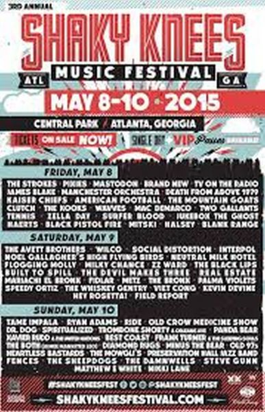 What to expect at the Shaky Knees Music Festival