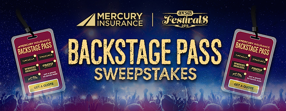 Mercury Insurance Quote Endearing Axs Tv And Mercury Insurance Team Up To Offer V.i.pconcert