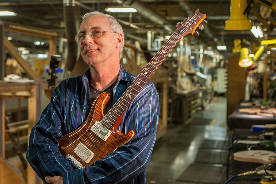 Paul Reed Smith guitar innovator and founder of PRS Guitars.