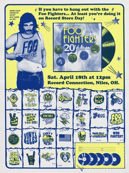 Foo Fighters Record Store Day 2015 concert promotional art
