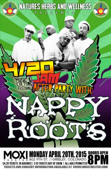 Nappy Roots is helping you celebrate 4/20 at the Moxi Theater tonight!