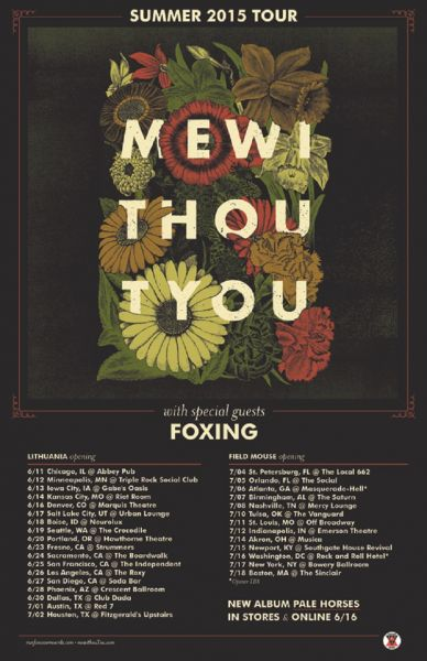 mewithoutYou summer 2015 tour