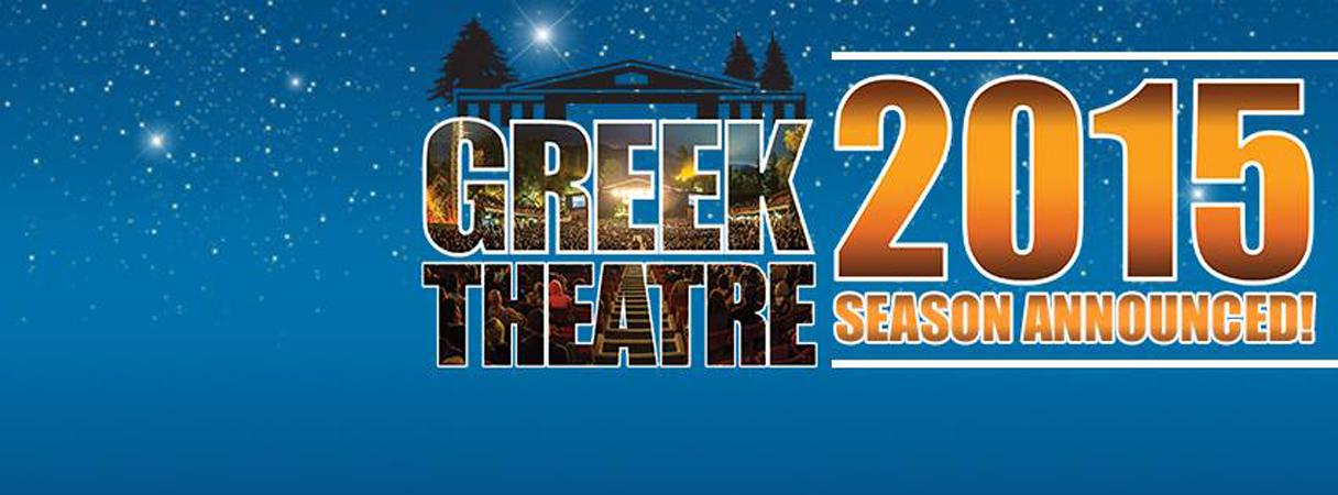 Greek Theatre 2015 concert series