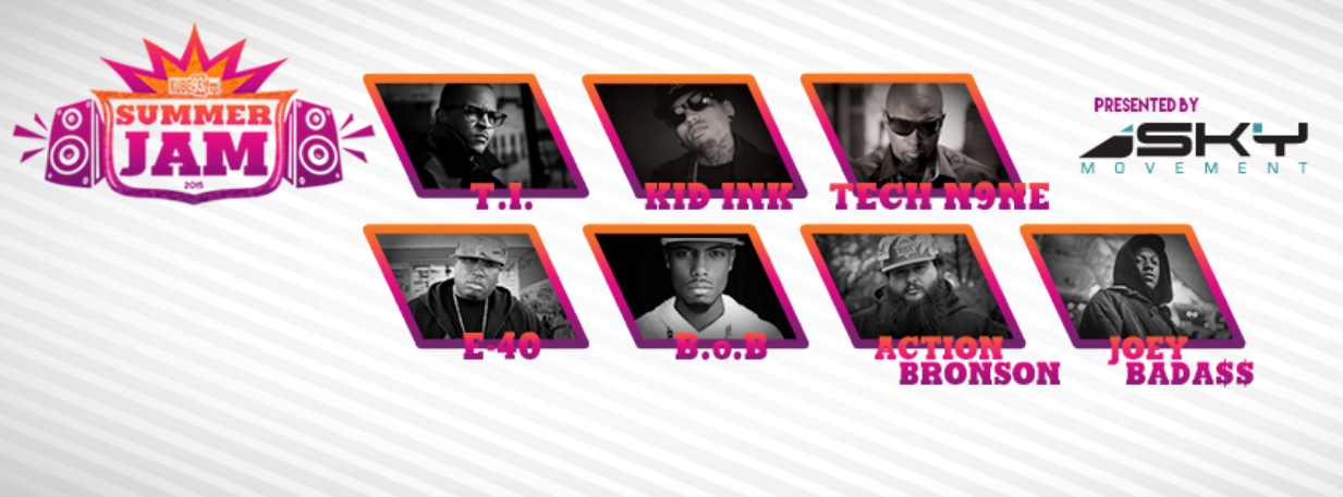 Sky Movement presents the 2015 KUBE 93 Summer Jam at White River Amphitheatre