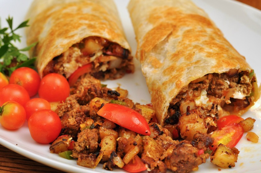 Breakfast Burritos Are Commonly Served At Mexican Restaurants In San Go