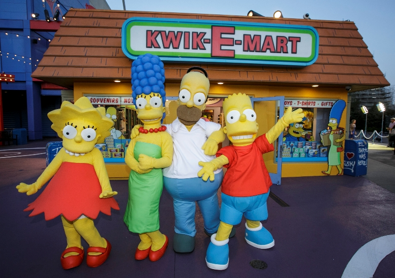 The Simpsons' Springfield recreated at Universal Studios Hollywood ...
