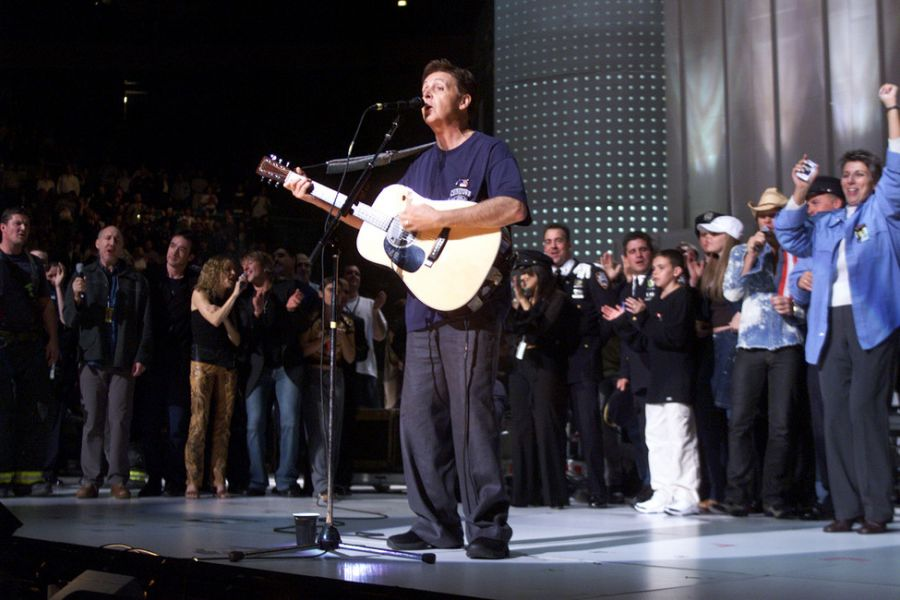 Paul McCartney Performs At The Concert For New York In 2001 Another Benefit