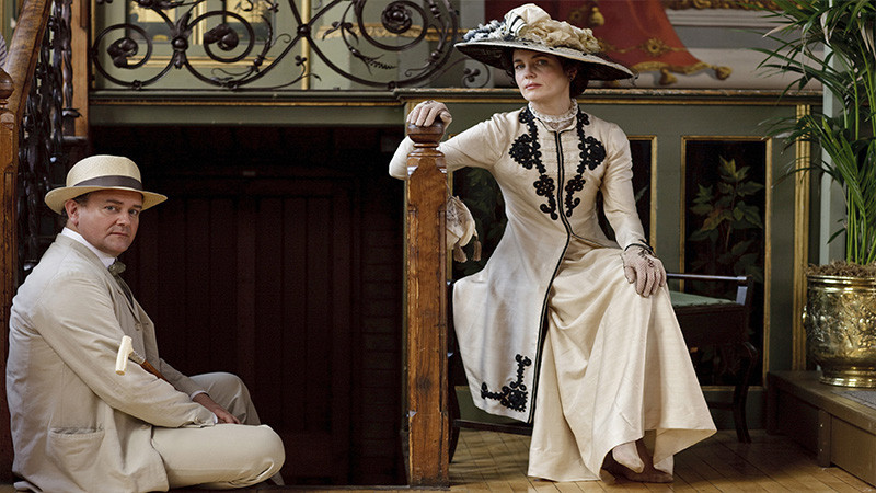 Downton Abbey (PBS) Season 1, 2010. Shown from left: Hugh Bonneville, Elizabeth McGovern.