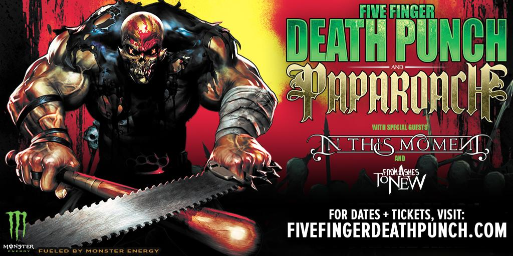 Five Finger Punch And Papa Roach Announce Co Headlining Tour